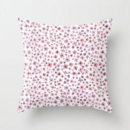 Macro #3 -Butterfly Bush Throw Pillow