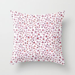 Watercolour Buddleigha Throw Pillow