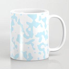 Spots - White and Light Blue Coffee Mug