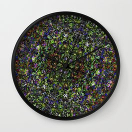 Bee in Flowers Wall Clock