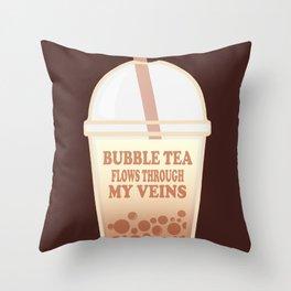 Bubble Tea Veins Throw Pillow