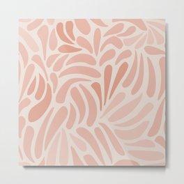 Pink Swirls Metal Print