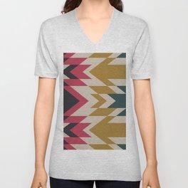 Bohemian Style Geometric Pattern Unisex V-Neck