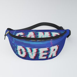 Game Over Glitch Text Distorted Fanny Pack