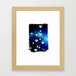 Virgo Constellation in Blue Topaz - Star Signs and Birth Stones Framed Art Print
