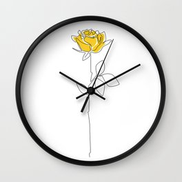 Lemon Rose Wall Clock
