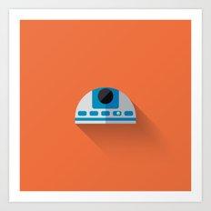 R2D2 2015 Flat Design Episode VII Art Print