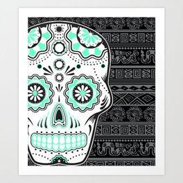 calavera mexicana Art Print