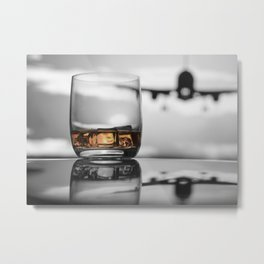 Airport on Ice Metal Print