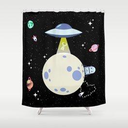 Alien Abduction! Shower Curtain