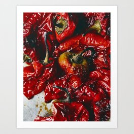 Roasted Red Peppers Art Print