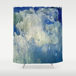 Message from the sea 10 / Hopping wave Shower Curtain