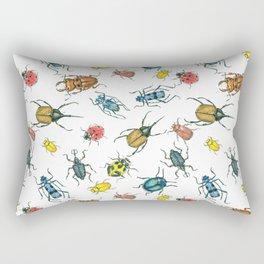 Beetles, watercolor and ink Rectangular Pillow