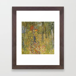Gustav Klimt Farm Garden With Crucifix Framed Art Print