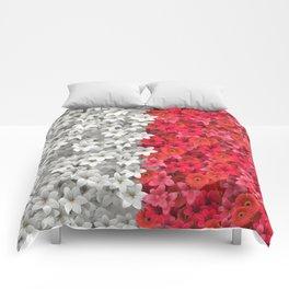 Boundary Flowers Comforters