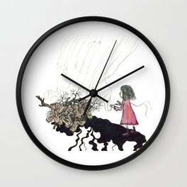 thread and branch Wall Clock