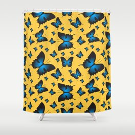 Butterfly sailboat Shower Curtain