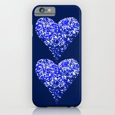 sparkling hearts blues Slim Case iPhone 6s