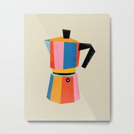 Multicolor Moka Metal Print