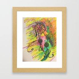 funky dream catcher Framed Art Print