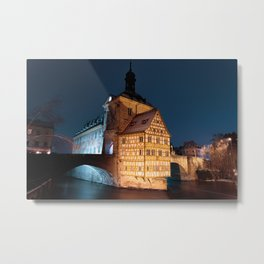 Bamberg Town Hall at night Metal Print