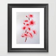 Sakura Blossoms Framed Art Print