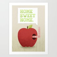 home sweet home Art Prints featuring Home Sweet Home by Chase Kunz