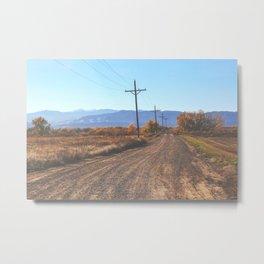 Nowhere Colorado Metal Print