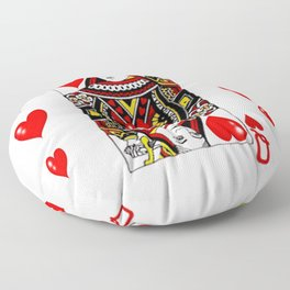 QUEEN  OF HEARTS SUIT CASINO PLAYING FACE CARD Floor Pillow