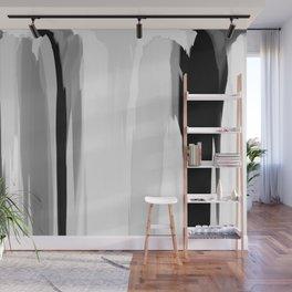 Soft Determination Black & White Wall Mural