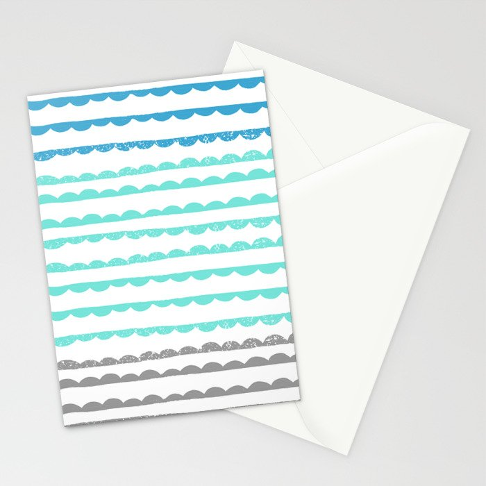 Scallops Stationery Cards