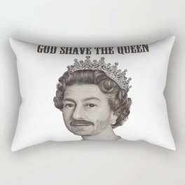 God shave the Queen Rectangular Pillow