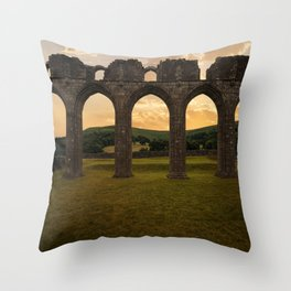 Arches of Llanthony Priory Throw Pillow