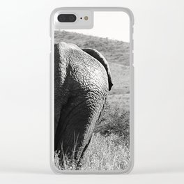 Elephant in Africa Clear iPhone Case
