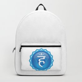 Throat Chakra Symbol Backpack
