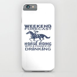 WEEKEND FORECAST HORSE RACING iPhone Case