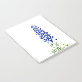 Texas bluebonnet in watercolor Notebook
