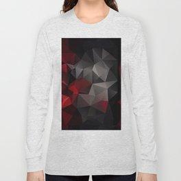 Polygon red black triangles . Long Sleeve T-shirt