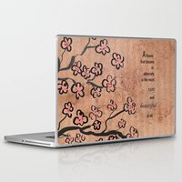 mulan Laptop & iPad Skins featuring mulan  quote by studiomarshallarts