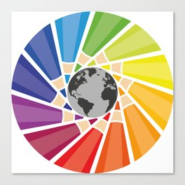 Color your own world Canvas Print