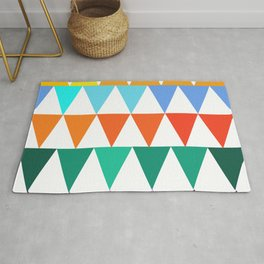 Triangles of Color Rug