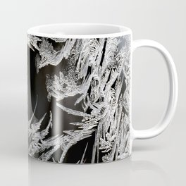 Ice Crystals In Black And White #decor #society6 #homedecor Coffee Mug