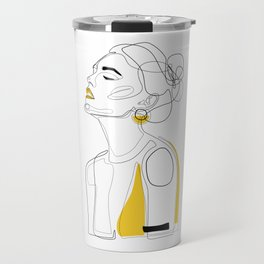 Yellow Lip Travel Mug