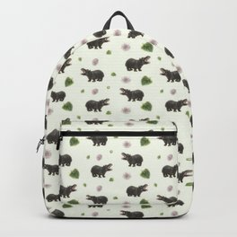 Hippos and Flowers Backpack