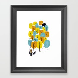 Searching for the monster Framed Art Print