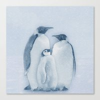 penguins Canvas Prints featuring Penguins by Asya Solo