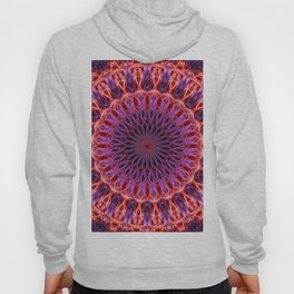 Glowing pink and red mandala Hoody