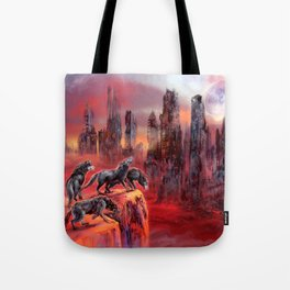 Wolves of Future Past landscape Tote Bag