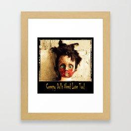 Creepy Doll Framed Art Print