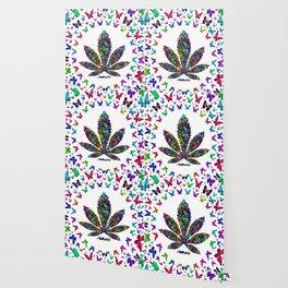 Butterflies Cannabis Leaf 3 Wallpaper